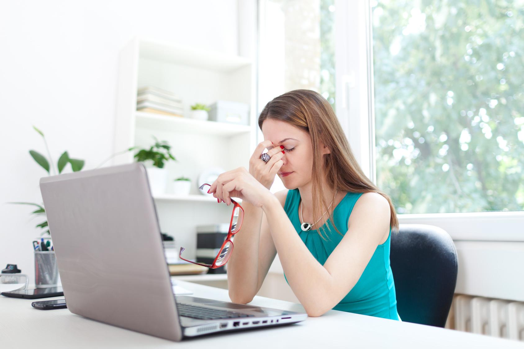 Silmade väsimus ja istuv töölaad